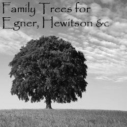 Family Trees for Egner, Hewitson etc